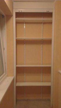 Шкаф на балкон с роллетой