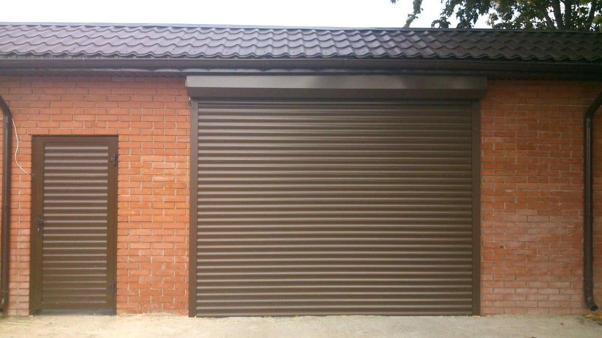 железные ворота для гаража цена с установкой